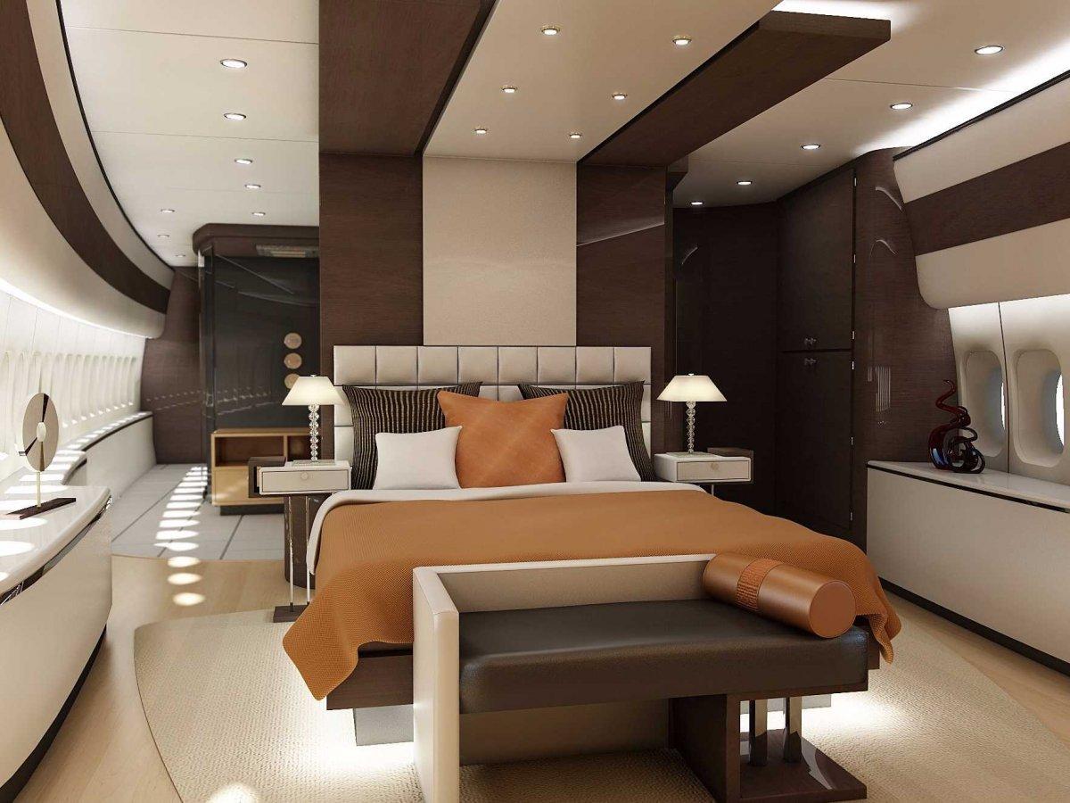 Boeing 747-8 VIP bedroom