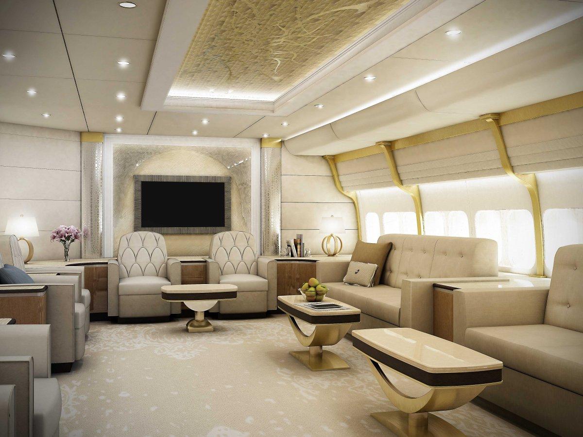 Boeing 747-8 VIP lounge